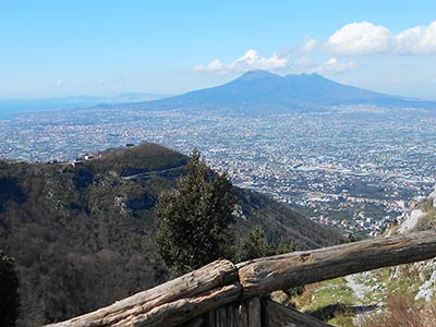 View over Mount Vesuvius from the Chiunzi Pass.